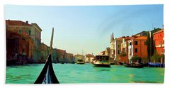 Beach Towel featuring the photograph Venice Waterway by Roberta Byram