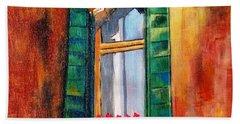 Venice Window Beach Towel