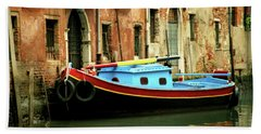Venice Workboat 2 Beach Towel