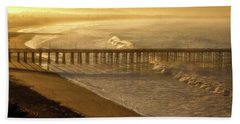 Ventura, Ca Pier At Sunrise Beach Towel