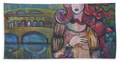 Venus And The Ponte Vecchio  Beach Towel