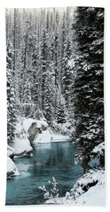 Verdant Creek - Winter 1 Beach Towel by Stuart Turnbull