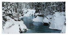 Verdant Creek - Winter 6 Beach Towel by Stuart Turnbull