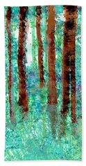 Beach Towel featuring the drawing Verdant Vistas by Seth Weaver