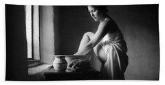 Vermeer Footwasher Beach Towel