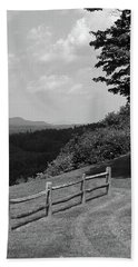 Beach Towel featuring the photograph Vermont Countryside 2006 Bw by Frank Romeo
