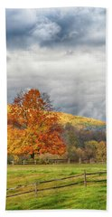 Beach Towel featuring the photograph Vermont Fall Colors After The Rain by Jeff Folger