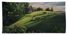 Vermont Gardens Beach Sheet by Nancy Griswold
