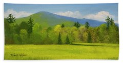 Beach Towel featuring the painting Vermont Spring by Frank Wilson