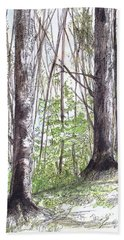 Vermont Woods Beach Towel