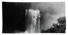 Vernal Fall And Mist Trail Beach Towel