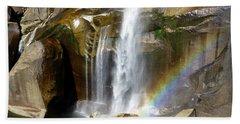 Vernal Falls Mist Trail Beach Towel by Amelia Racca