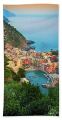 Vernazza From Above Beach Towel