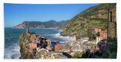 Vernazza In Cinque Terre Beach Sheet