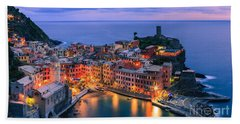 Vernazza Is One Of The Five Towns That Make Up The Cinque Terre  Beach Towel