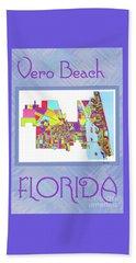 Vero Beach Map1 Beach Towel