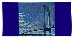Verrazano Bridge Beach Towel