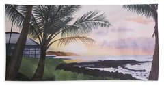 Beach Sheet featuring the painting Version 2 by Teresa Beyer