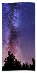 Vertical Milky Way Beach Towel