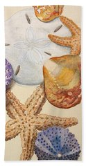 Vertical Starfish Beach Towel