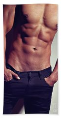 Very Sexy Man With Great Body Beach Towel