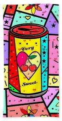 Very Sweet Popart By Nico Bielow Beach Sheet by Nico Bielow