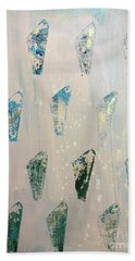 Beach Towel featuring the painting Vestige by Robin Maria Pedrero