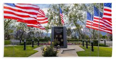 Veterans Monument Camarillo California Usa Beach Towel