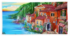 Via Positano By The Lake Beach Sheet