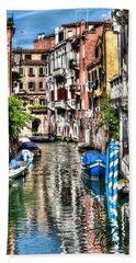 Viale Di Venezia Beach Towel by Tom Cameron