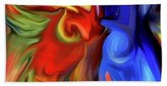 Vibrant Abstract Color Strokes Beach Towel