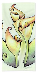 Vibrant Flower 3 Arum Lily Beach Towel