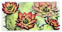 Vibrant Flower 6 Cactus Beach Towel