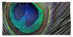 Vibrant Green Feather Beach Sheet
