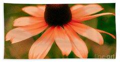Vibrant Orange Coneflower Beach Sheet by Judy Palkimas
