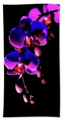 Beach Towel featuring the photograph Vibrant Orchids by Ann Bridges