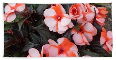 Plumerias Vibrant Pink Flowers Beach Sheet