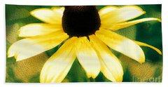 Vibrant Yellow Coneflower Beach Sheet