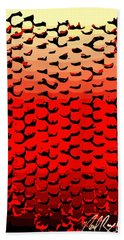 Vibrational Bricks Beach Sheet