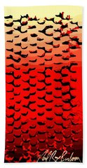 Vibrational Bricks Beach Towel