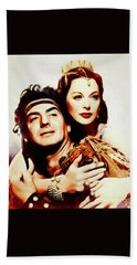 Victor Mature And Hedy Lamarr Beach Towel