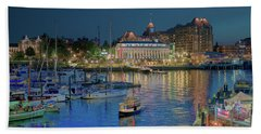 Victoria At Night Beach Towel