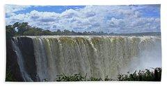 Victoria Falls Zimbabwe Beach Towel