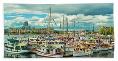 Victoria Harbor 1 Beach Towel