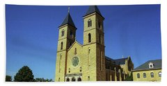 Beach Towel featuring the photograph Victoria, Kansas - Cathedral Of The Plains 6 by Frank Romeo