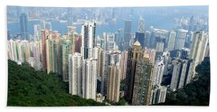 Beach Towel featuring the photograph Victoria Peak 1 by Randall Weidner