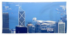 Beach Towel featuring the photograph Victoria Peak 2 by Randall Weidner