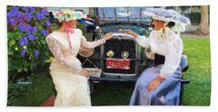 Victorian Girls Beach Towel by Linda Weinstock