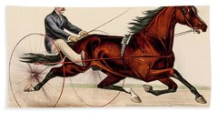 Victorian Horse Carriage Race Beach Towel