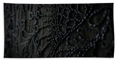 Victorian Mourning Cape Beach Towel by Mary-Lee Sanders